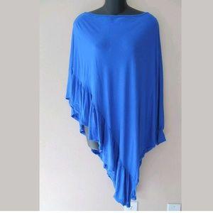 Boston Proper Royal Blue Poncho Style Tunic
